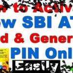 How to Generate SBI ATM PIN by SMS – Internet Banking and IVR – Generate SBI ATM Pin Online Hindi