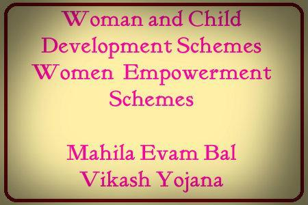 woman and child development schemes