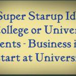 business ideas for students
