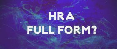 hra full form