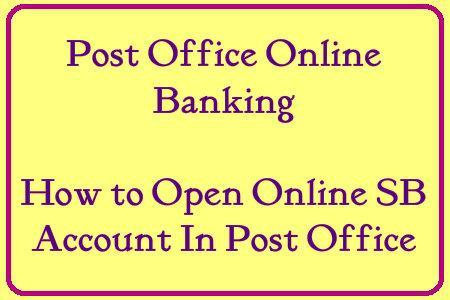 post office online banking