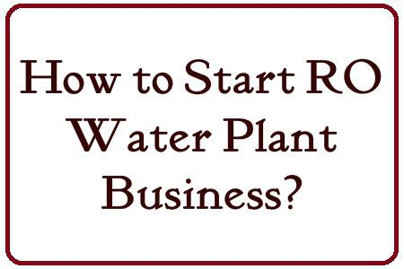 How to Start RO Water Plant Business in Hindi