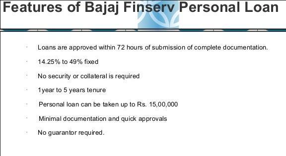 bajaj finserv Personal Loan features