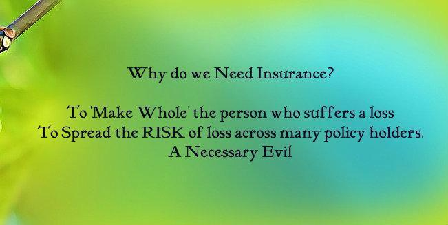 why do we need insurance